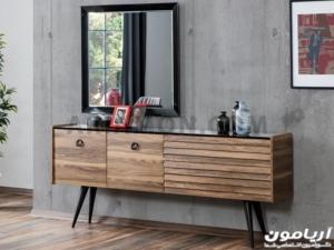 آینه کنسول چوبی ساده