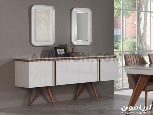 آینه کنسول چوبی سفید