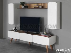 میز تلویزیون ال سی دی مدرن سفید