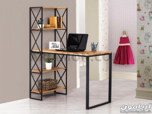 میز کامپیوتر چوب و فلز